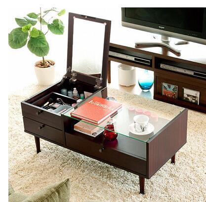 Современные закаленное стекло чайный столик. Многофункциональный творческий. Процесс небольшой семейный чайный столик