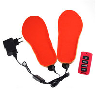 Women Men Shoes Electric Winter Boots Remote Control Warm Pad Thick Heated Insoles USB 1 Pair