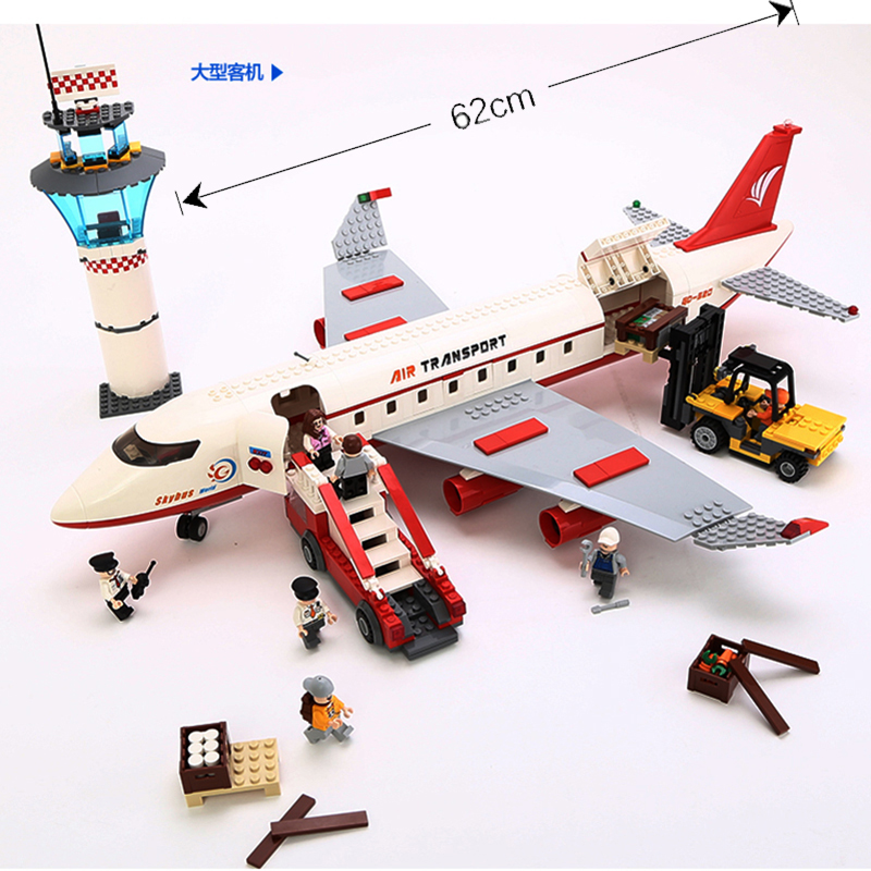 NEW GUDI 8913 City Air Plane Large Passenger Aircraft Building Block 856Pcs Bricks Toys Compatible With hot city series aviation private aircraft lepins building block crew passenger figures airplane cars bricks toys for kids gifts