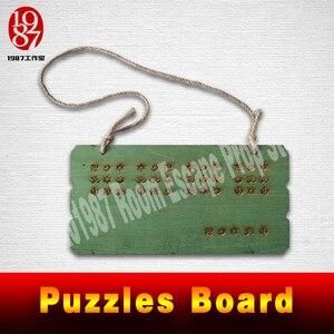 Image 2 - Quebra cabeças de madeira para escapar, vida real, adereço, placa de madeira, resolver o quebra cabeça para obter as pistas, número, plugue fios adereços jxkj1987