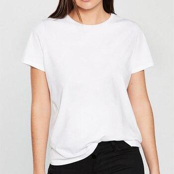 Women 2019 Summer Harajuku T Shirt Camiseta Mujer Graphic Tees Pure Color Black White Vintage Tops Streetwear Tee Shirt Femme