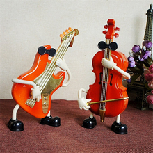 HAOCHU Music Performer Guitar Cello Model Music Box Clockwork Rotary Fun Toys Gifts for Kids Home Decoration Crafts