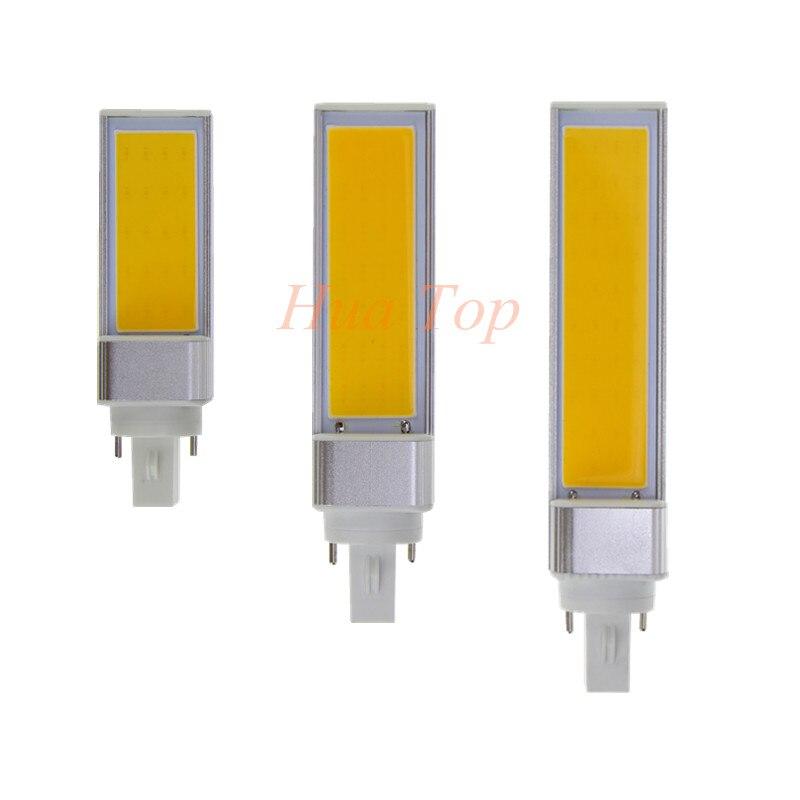 1 Шт. 7 Вт 9 Вт 12 Вт Света Высокой мощности Горизонтальное подключите лампада <font><b>G24</b></font> G23 E27 Белый СВЕТОДИОДНЫЕ Лампы Стол блеск лампы <font><b>COB</b></font> AC85-265V Бесплат&#8230;