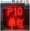 2018 2017 Leeman СВЕТОДИОДНЫЙ Дисплей P10 одного цвета открытый привело движущихся дисплей сообщение знак бегущий текст программируемые панели