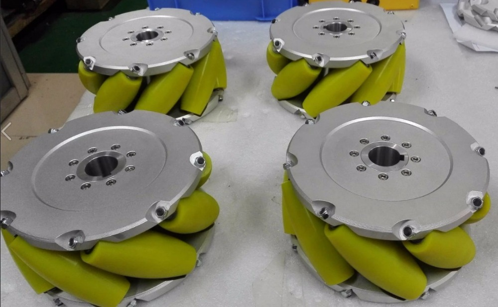 A set of 8inch(203mm) mecanum wheel with PU roller(Load cacipity 1000KG) NM203A a set of heavy duty mecanum wheel with imported material pu roller 14169