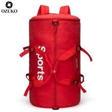 цена на OZUKO Large Capacity Travel Bags Multifunction Sports Gym Hand Bag Male Luggage Travel Backpack For Women Fitness Duffle Mochila