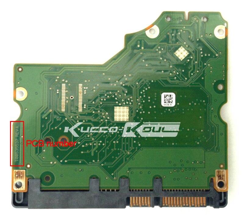 Piezas de disco duro PCB placa lógica tarjeta de circuito impreso 100535537 para Seagate 3,5 SATA hdd Recuperación de Datos Reparación de disco duro