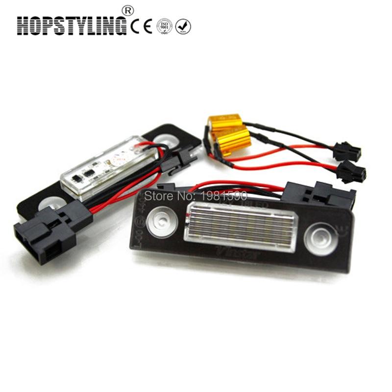Hpstyling 2pcs avtomobil dizaynı 18 SMD LED nömrəli işıq, Skoda - Avtomobil işıqları - Fotoqrafiya 2