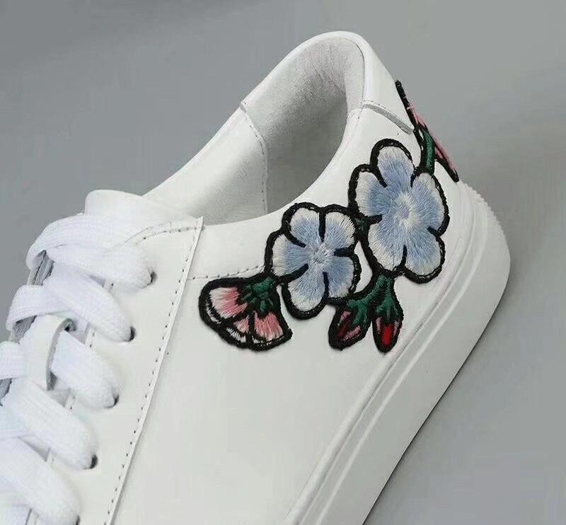 Fleurs Mocassins As Show Lacets forme Talon Paresseux Plate Véritable Sneakers Plaid Show as Chaussures Cuir Femmes Feminino 2018 À Broderie Tenis Casual Plat FpxdqFz