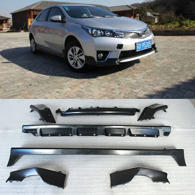 High quality 2014UP PP middle east style car bodykits, Auto car lip kits For Toyota(fit for corolla 2014UP)