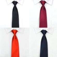 Для мужчин молния галстук легко вытащить ленивый галстук 8 см классические полосатые галстуки Галстук колье-чокер платье в деловом стиле совещание интервью красные свадебные туфли