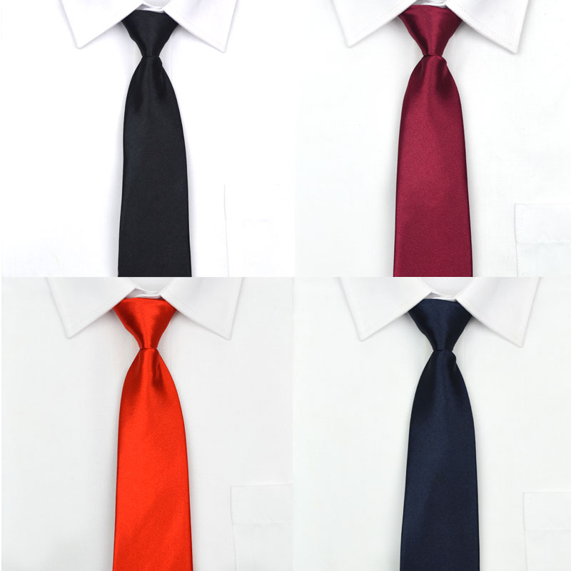 Men Zipper Tie Easy To Pull Lazy Necktie 8cm Classic Striped Neckwear Cravat Choker Business Dress Meeting Interview Wedding Red