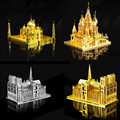 Alta qualidade do metal 3d puzzle brinquedos educativos puzzles manjericão catedral de notre dame e do taj mahal modelo de construção diy das crianças brinquedos