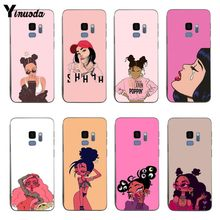 Yinuoda Fashion cartoon sexy black girl Black Soft silicone Phone Case For samsung S6edge S7edge S7 S8 S9 s8plus s9plus(China)