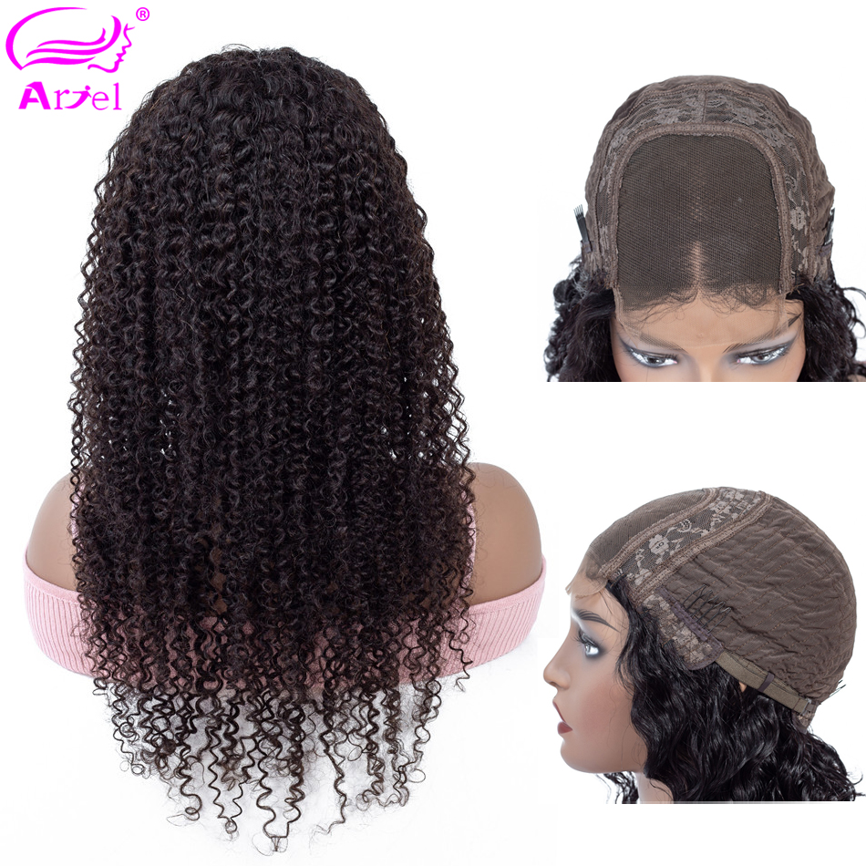 Kinky Curly Human Hair Wig Lace Front Human Hair Wigs 24 26 Inch Peruvian 250 Density