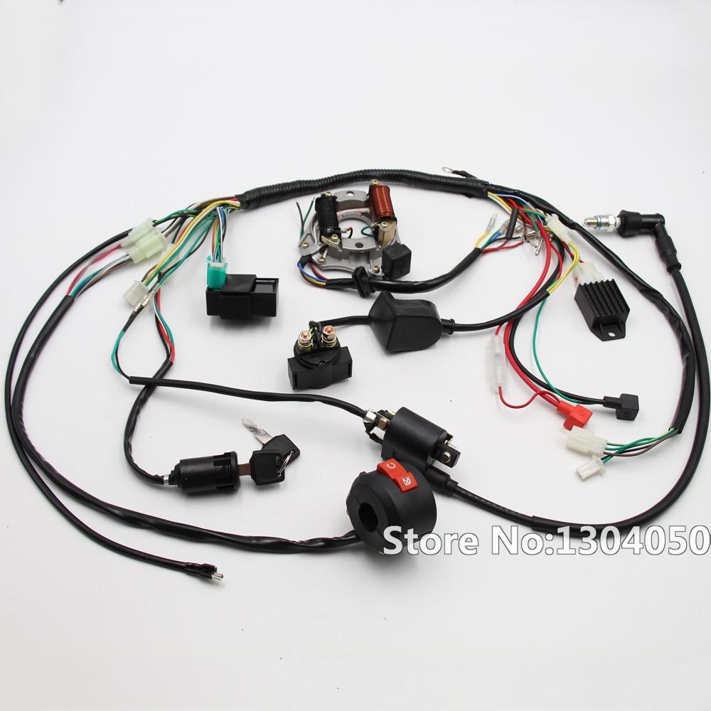 medium resolution of complete electrics atv klx stator 50cc 70cc 110cc 125cc coil cdi c7hsa spark plug wiring harness quad buggy