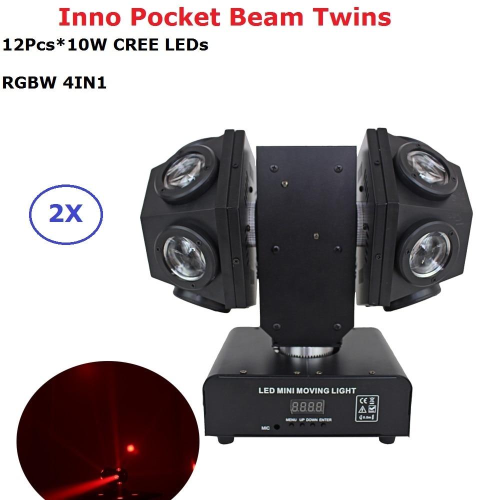 2XLot Inno Pocket Beam Moving Head Lights 12X10W CREE LEDS LED Beam Lights 110-220V Professional Dj Lighting Equipments 2XLot Inno Pocket Beam Moving Head Lights 12X10W CREE LEDS LED Beam Lights 110-220V Professional Dj Lighting Equipments