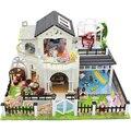 Hecho a mano Muebles de Casa de Muñecas Miniatura Diy Casas de Muñecas casa de Muñecas En Miniatura De Madera Juguetes Para Niños Adultos Regalo de Cumpleaños D030