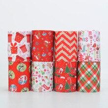 Дизайн случайный набор 5/10 м 3 ''75 мм Счастливого Рождества печатная корсажная лента, 5 видов стилей/1y. 5 видов стилей/2yds