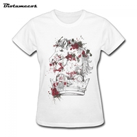 Women T Shirts Fashion Short Sleeve 100 Cotton Horse Blood Crown Picutre Printed Plus Size Brand
