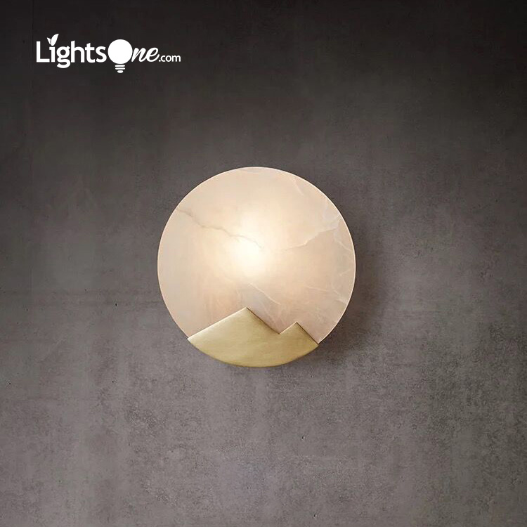 new Chinese copper wall light creative designer background aisle bedside bathroom marble wall lamp
