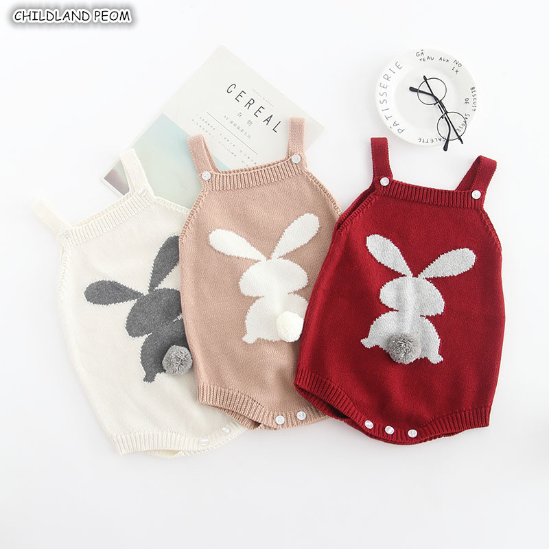 Baby Knitted   Romper   Autumn Winter Christmas Baby   Rompers   Bunny Newborn Baby Clothes Cotton Baby Boys   Romper   Girl Jumpsuits