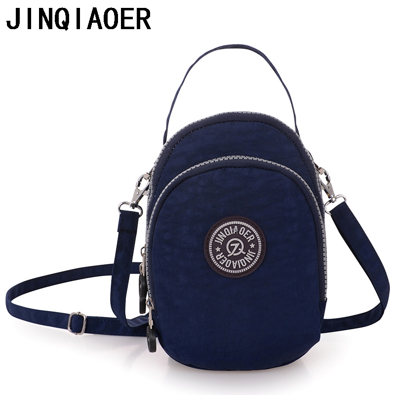Female Messenger Bags Women's Nylon Bag Shoulder Tote Handbag Ladies Bolsa Feminina Small Light Waterproof Travel Crossbody Bag 2017 new clutch steam punk female satchel handbag gothic women messenger bags shoulder bag bolsa shoulder bags tote bag clutches
