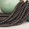 Comercio al por mayor 100 UNIDS 5,6, 7,8, 9mm Cáscara De Coco Granos Flojos de Rondelle Espaciadores Cilindro Marrón Para Collares pulseras de La Joyería