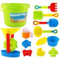 HOT SALE 13Pcs/Set Summer Kids Sand Beach Toys Castle Bucket Spade Shovel Rake Water Tools Set For Kids Toys Fun Shovel Molds