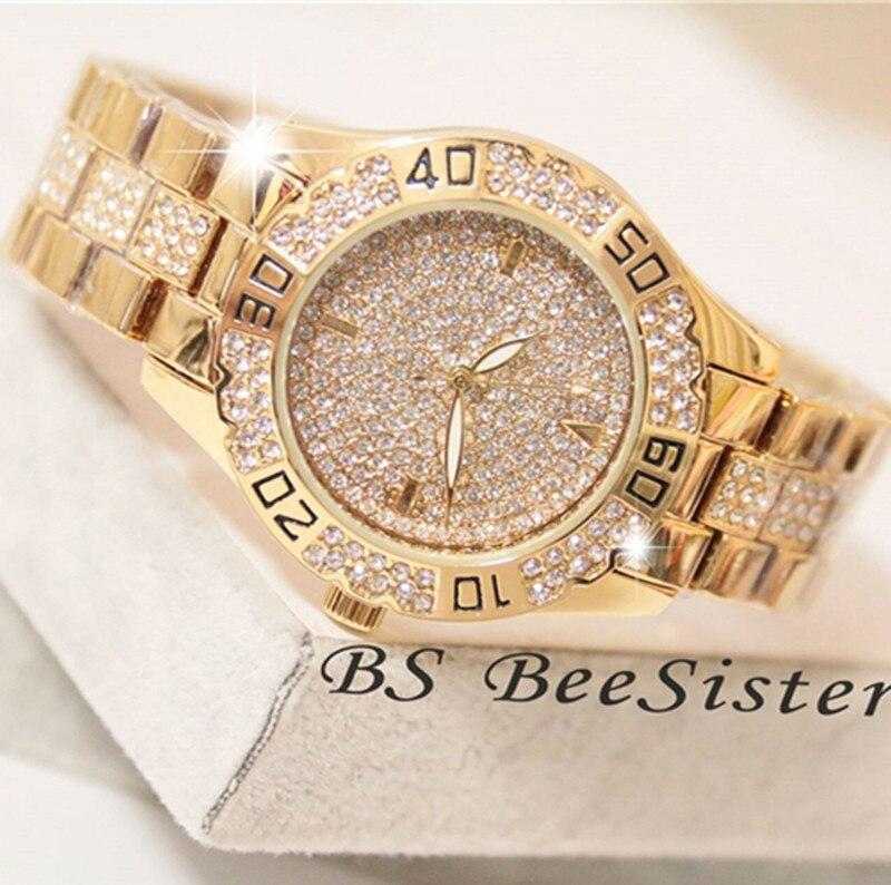 Dress Women Watches Stylish Crystal Rhinestones Quartz Wristwatch Lady Party Bracelet Bangle Relogio Casual Watch Ladies Watch 1