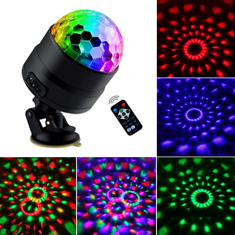 4 LED Disco Light USB Party Lights Disco Ball 5V Strobe Sound Activated Dance DJ Stage Lamp For Car Home Kids Parties Bar Club
