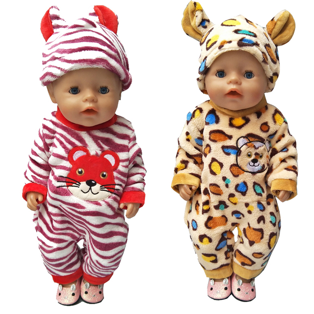 Doll clothes for 43cm Baby dolls clothes cartoon set for 18 inch girl doll cute animal clothes