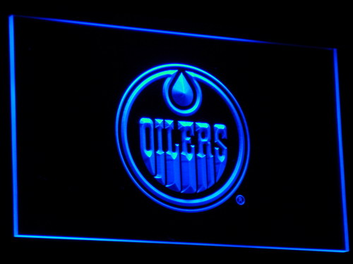 B087 Edmonton Oilers LED Néon Signe avec On/Off 20 + Couleurs 5 Tailles à choisir