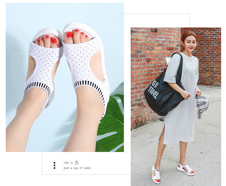 HTB1.1Efu7SWBuNjSszdq6zeSpXaf PINSEN Women Sandals 2019 New Female Shoes Woman Summer Wedge Comfortable Sandals Ladies Slip-on Flat Sandals Women Sandalias