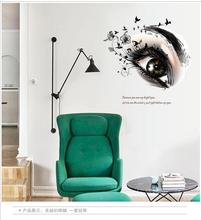 1Pcs Stylish Simple European Style Eye Diy Wall Stickers For Kids Rooms Decorations Living Room Decals Posters