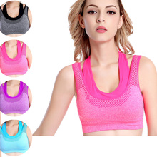New Women Bra Clothing Fitness Tops Shirts Quick Dry Strappy Push Up Clothes Girls Vest Female