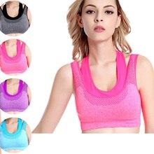 Sutiã novo Mulheres Roupas Topos De Fitness Camisetas Quick Dry Com Tiras Push Up Roupas Meninas Colete Roupa Interior Feminina