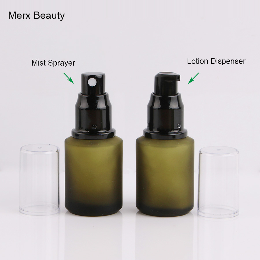 12pcs 30ml 1 oz light green frost bottle for Perfume Essential Oil toner serum   with black Atomizer Dispenser mist fine sprayer 1000mg 100 pcs fish oil bottle for health capsules omega 3 dha epa with free shipping