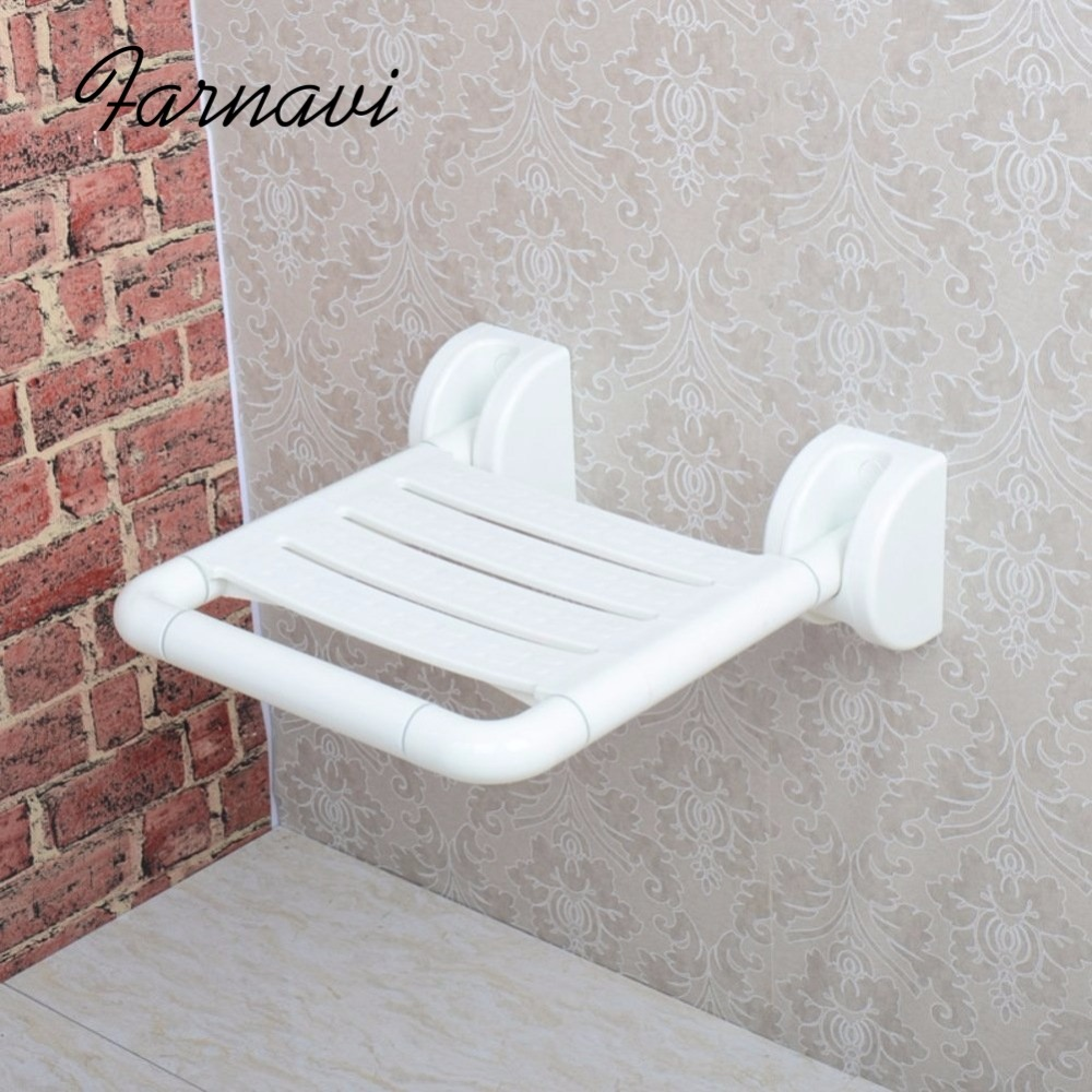 Bathroom Fixtures Gappo Wall Mounted Shower Seats Black Bathroom Folding Chairs Bath Shower Chair Stool Toilet Saving Space Folding Seat Evident Effect