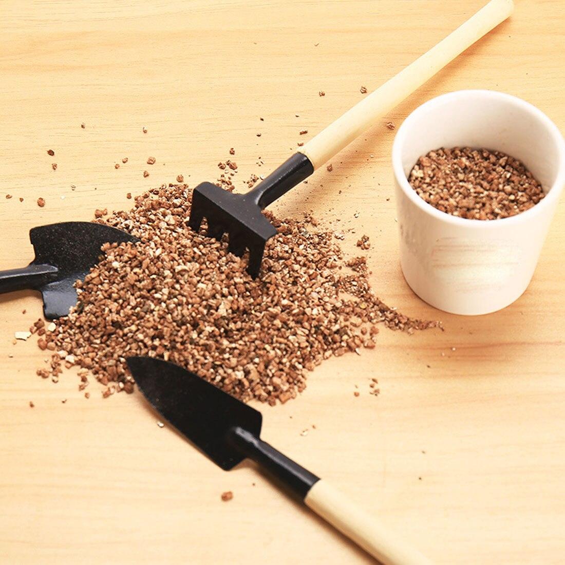 Children Harrow Shovel Rake Plant Maintenance Wooden Handle Garden Tool Set 3pcs/set Mini Garden Plant Tool Set