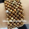 FREE SHIPPING 100% natural stone19CM fashion style 4cm wide cuff bracelet in gem stone brown jasper bracelet woman's jewelry