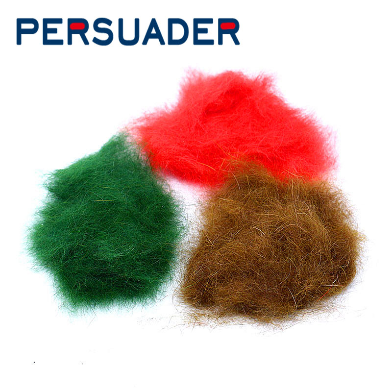 PERSUADER 2bags/pack fly tying dub genuine rabbit hairs 15optional colors dubbing soft fine hare fiber spiky body tying material