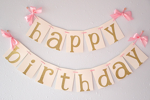 Pink Gold Birthday Party Decorarations Glitter Gold