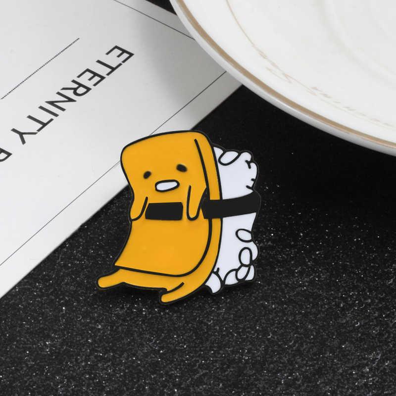 ホット漫画のブローチパイナップルバナナオウムエナメルピン黄色の天使の羽バッジ Laple ピンデニムシャツ襟ジュエリー