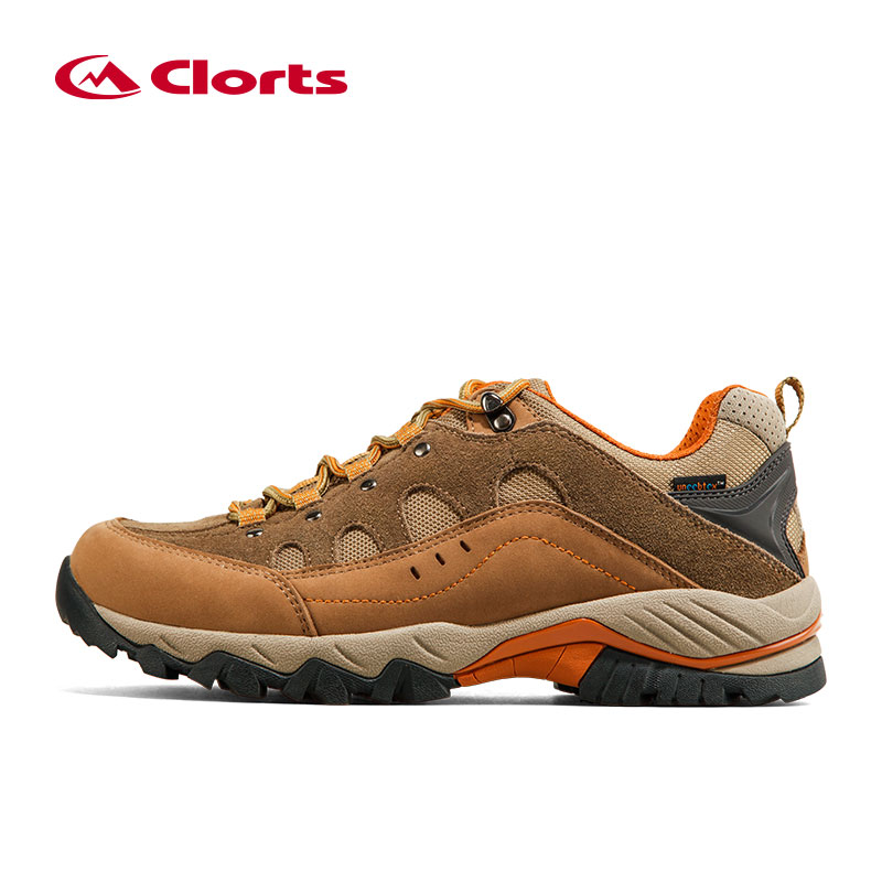 ФОТО 2016 Clorts Men Hiking Shoes HKL-815A/B Waterproof Uneebtex Outdoor Trekking Shoes Rubber Sports Sneakers