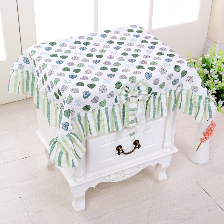 Pastoral cloth small leaf bedside table cover dust cover lace all pastoral cloth small leaf bedside table cover dust cover lace all purpose covers in all purpose covers from home garden on aliexpress alibaba group watchthetrailerfo