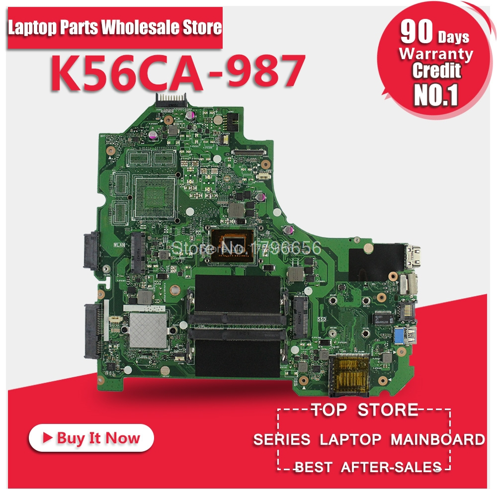 FOR ASUS S550C K56CM K56CB S56C K56C K56CA-987 laptop Motherboard K56CM Mainboard K56CA K56CM Motherboard 100% test Ok russian keyboard for asus k56 k56c k56ca a56 k56cb k56cm ru black laptop keyboard
