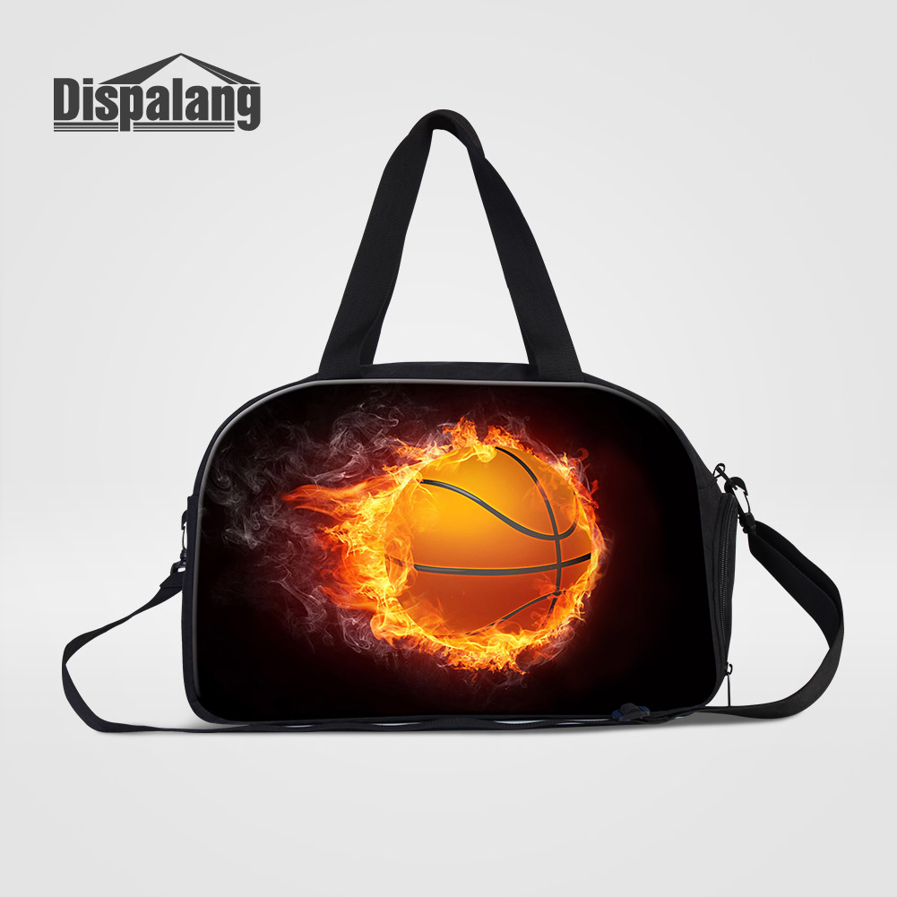 Dispalang 3D Printing Basketballs Men Business Clothes Duffle Bags Soccers Footballs Travel Shoulder Bag Weekender Bag Wholesale