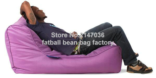 Purple outdoor bean bag sofa chair garden furniture set high quality waterproof outdoor sofa sac