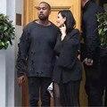 Marca de alta Qualidade Homens Designer de Moda Hip Hop Sólida Camisola Roupas de Grife Kanye West Yeezus Superdimensionada Camisola Dos Ganhos